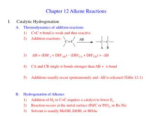 Chapter 12 Alkene Reactions