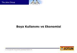 Boya Kullanımı ve Ekonomisi