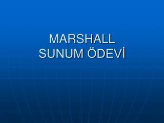MARSHALL SUNUM ÖDEVİ