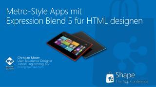 Metro-Style Apps mit  Expression  Blend  5 für HTML designen