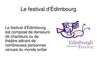 Le festival d'Édimbourg