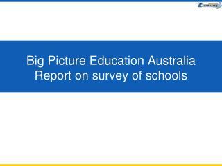 Big Picture Education Australia Report on survey of schools