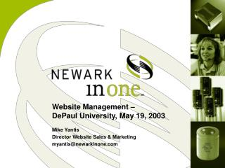 Website Management –  DePaul University, May 19, 2003