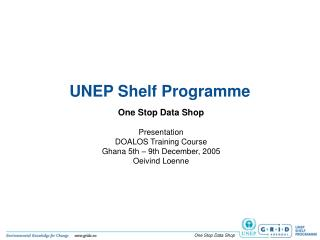 UNEP Shelf Programme