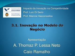 3.1. Inovação no Modelo do Negócio