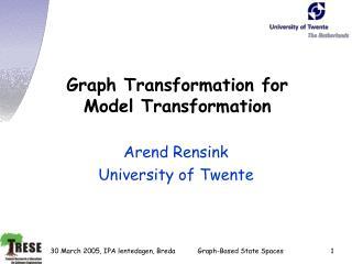 Graph Transformation for  Model Transformation