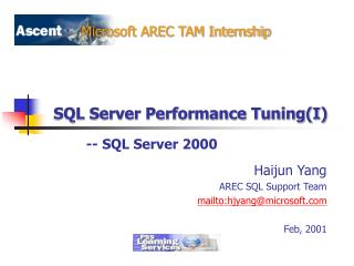 SQL Server Performance Tuning(I)