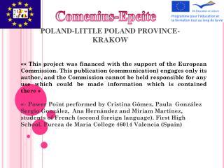 POLAND-LITTLE POLAND PROVINCE-  KRAKOW