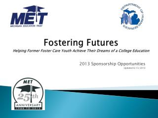 Fostering Futures  Helping Former Foster Care Youth Achieve Their Dreams of a College Education