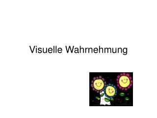 Visuelle Wahrnehmung