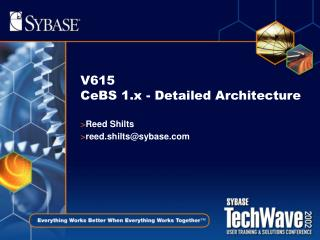 V615 CeBS 1.x - Detailed Architecture