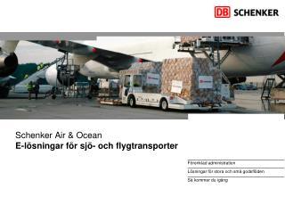 Schenker Air & Ocean E-lösningar för sjö- och flygtransporter