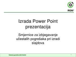 Izrada Power Point prezentacija