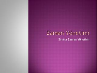 Z aman Yönetimi