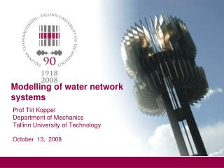 Modelling of water network systems