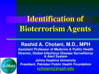 Identification of Bioterrorism Agents