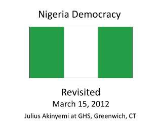 Nigeria Democracy