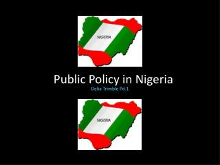Public Policy in Nigeria