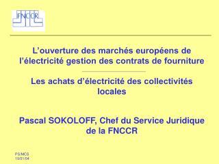 L'ouverture des marchés européens de l'électricité gestion des contrats de fourniture