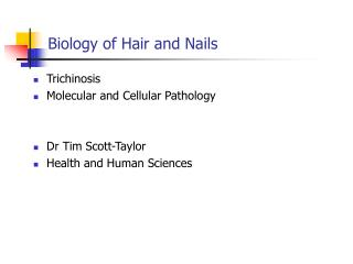 Biology of Hair and Nails