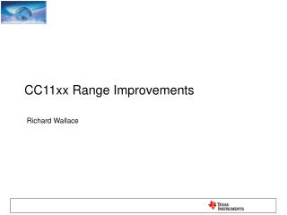 CC11xx Range Improvements