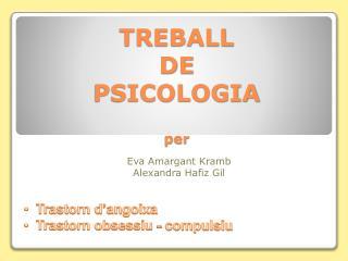 TREBALL  DE  PSICOLOGIA per