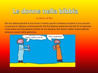 Le donne nella bibbia