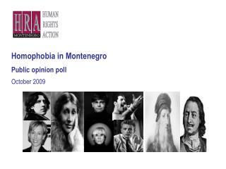 Homo ph ob i a  in Montenegro