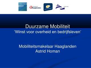 Duurzame Mobiliteit 'Winst voor overheid en bedrijfsleven'