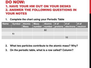 Do NOW:  1. Have your HW out on your desks 2. Answer the following questions in your Notes