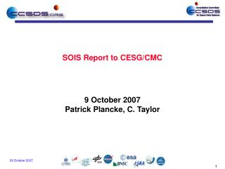 SOIS Report to CESG/CMC
