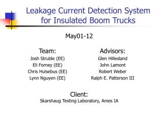 Leakage Current Detection System for Insulated Boom Trucks