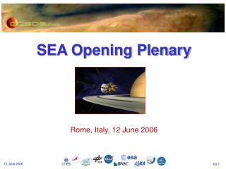 SEA Opening Plenary