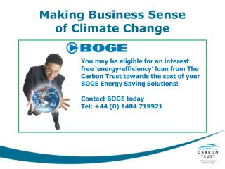 Making Business Sense of Climate Change