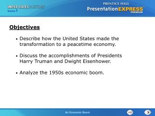 Describe how the United States made the transformation to a peacetime economy.