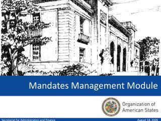 Mandates Management Module