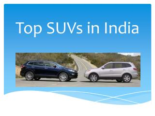 Top SUVs in India
