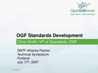 OGF Standards Development