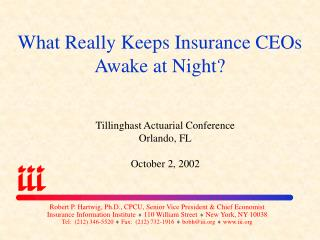 What Really Keeps Insurance CEOs Awake at Night?