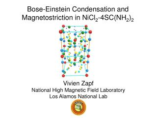 Vivien Zapf National High Magnetic Field Laboratory Los Alamos National Lab