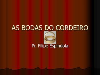 AS BODAS DO CORDEIRO
