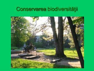 Conservarea  bio diversităţii