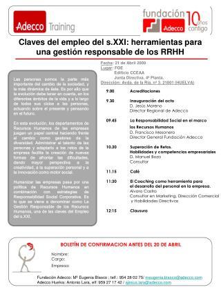 Claves del empleo del s.XXI: herramientas para una gestión responsable de los RRHH