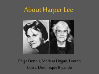 About Harper Lee