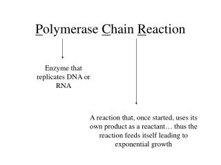 Polymerase Chain Reaction Enzyme that replicates DNA or RNA