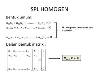 SPL HOMOGEN