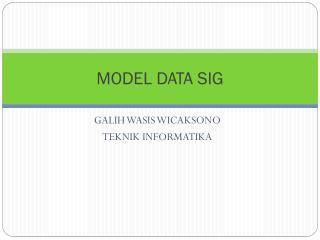 MODEL DATA SIG