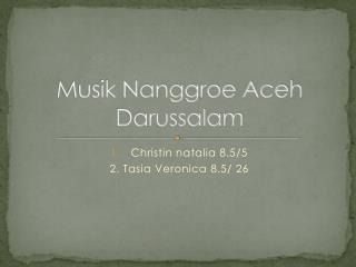 Musik Nanggroe Aceh Darussalam