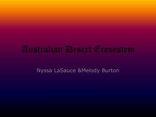 Australian Desert Ecosystem