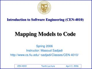 Introduction to Software Engineering (CEN-4010)
